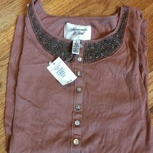 NWT - Abercrombie & Fitch long sleeve small shirt